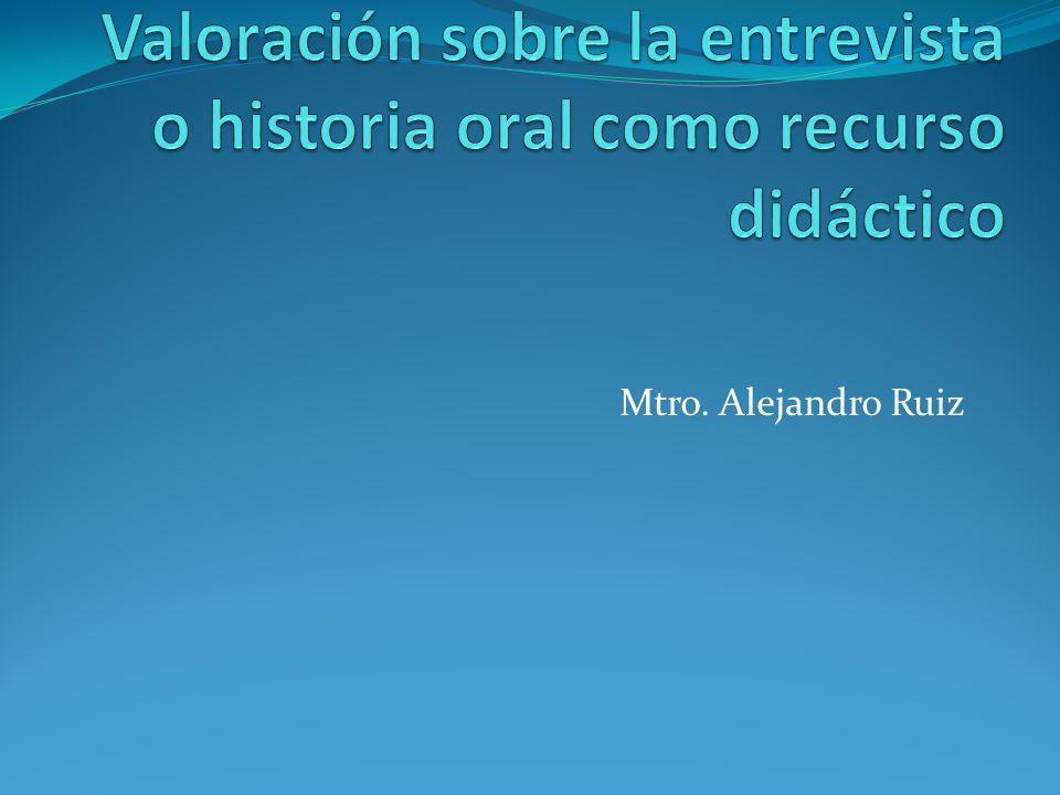 Mtro. Alejandro Ruiz