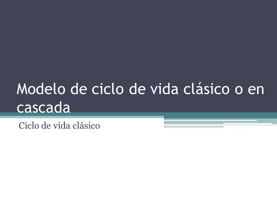 PARADIGMA CICLO DE VIDA DEL SOFTWARE Este fue el modelo inicial planteado para organizar el proceso de desarrollo, aunque antiguo, tiene vigencia en algunos proyectos o como parte de otros modelos, da la medida de los pasos tradicionales de cualquier modelo: análisis, diseño, codificación, prueba y mantenimiento.