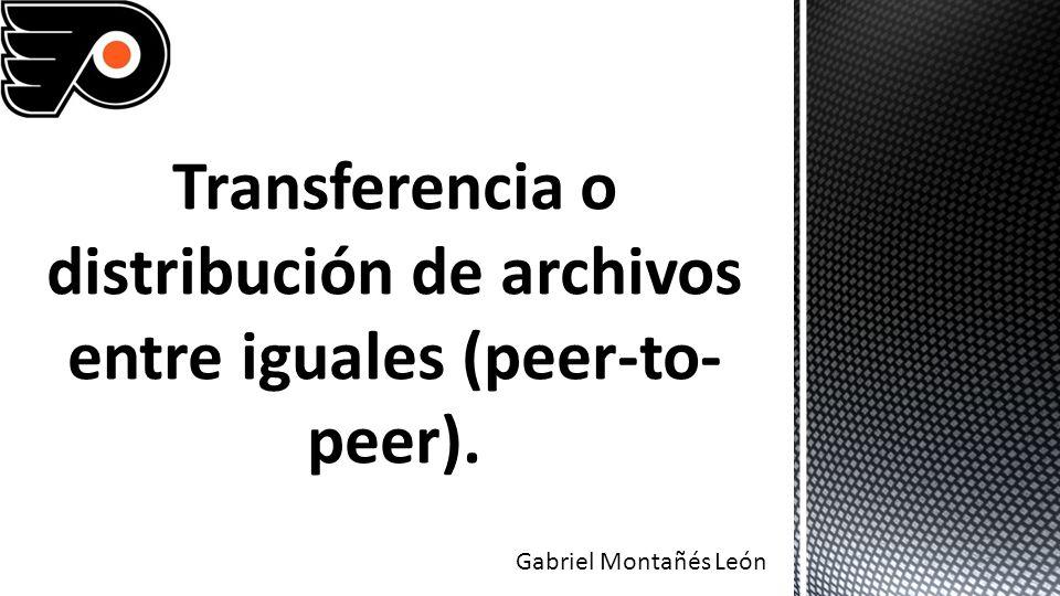 La principal idea de la arquitectura Peer-to-Peer (Par a par, P2P) es determinar la base y reglas necesarias para compartir recursos en un esquema donde las entidades participantes sean iguales.