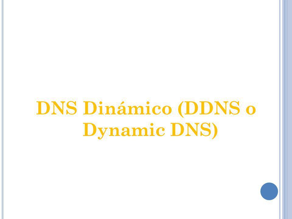 DNS dinámico es un sistema que permite la actualización en tiempo real de la información sobre nombres de dominio situada en un servidor de nombres.