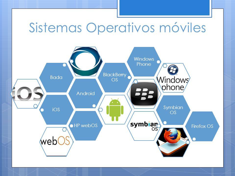 Sistemas Operativos móviles iOSAndroidBada BlackBerry OS Windows Phone Symbian OS HP webOSFirefox OS