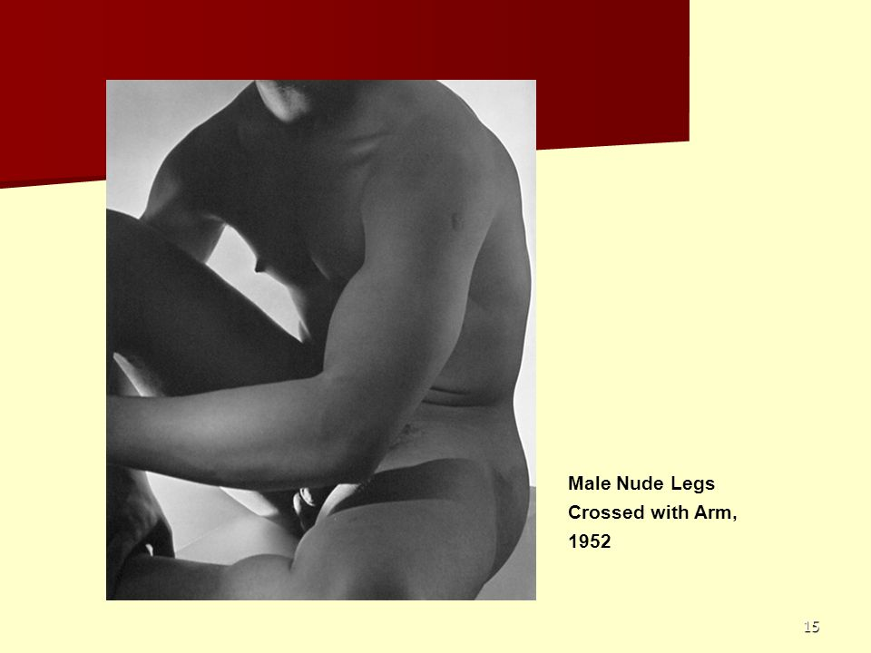 15 Male Nude Legs Crossed with Arm, 1952