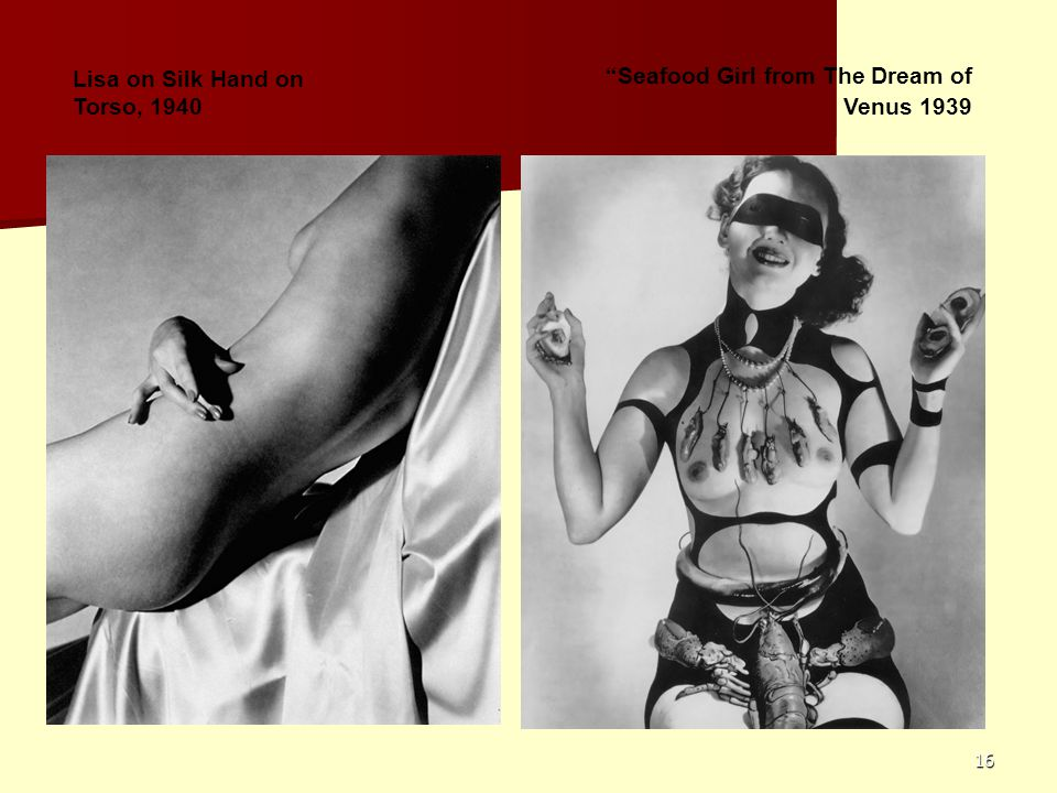 16 Seafood Girl from The Dream of Venus 1939 Lisa on Silk Hand on Torso, 1940
