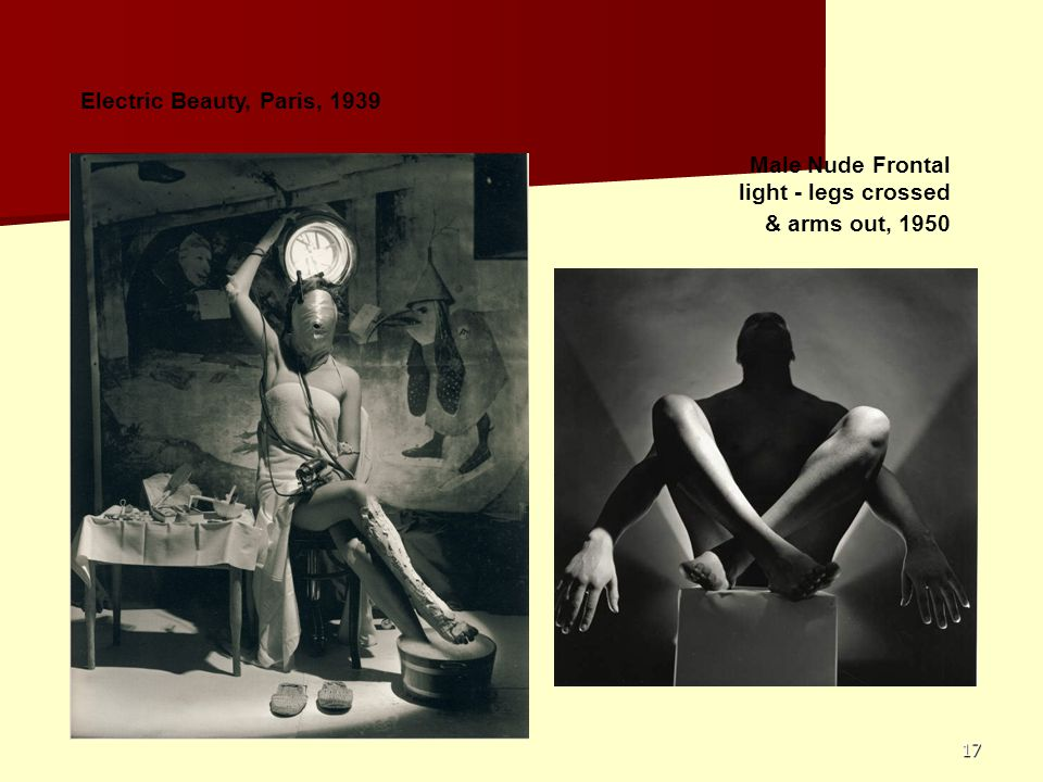 17 Electric Beauty, Paris, 1939 Male Nude Frontal light - legs crossed & arms out, 1950