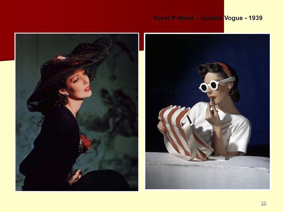 29 Horst P Horst – lipstick Vogue - 1939