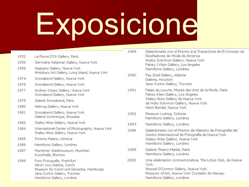39 Exposiciones