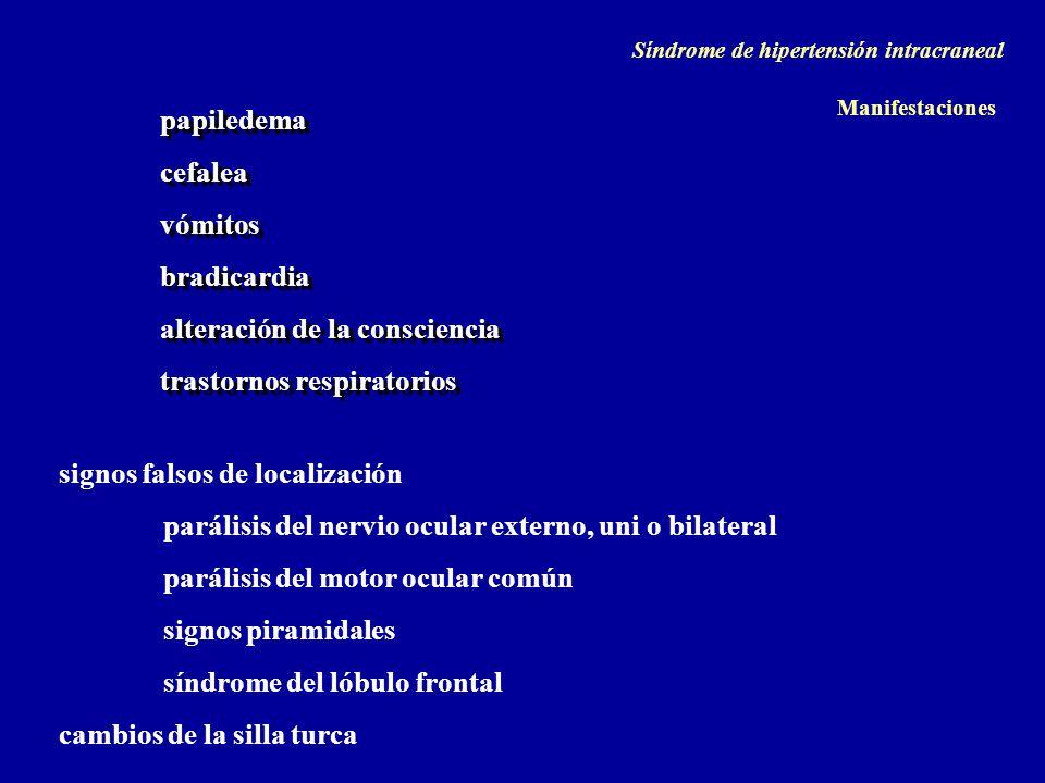 papiledema cefalea vómitos bradicardia alteración de la consciencia trastornos respiratorios papiledema cefalea vómitos bradicardia alteración de la c