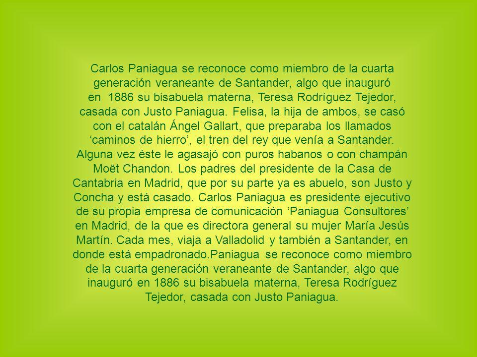 Carlos Paniagua se reconoce como miembro de la cuarta generación veraneante de Santander, algo que inauguró en 1886 su bisabuela materna, Teresa Rodrí