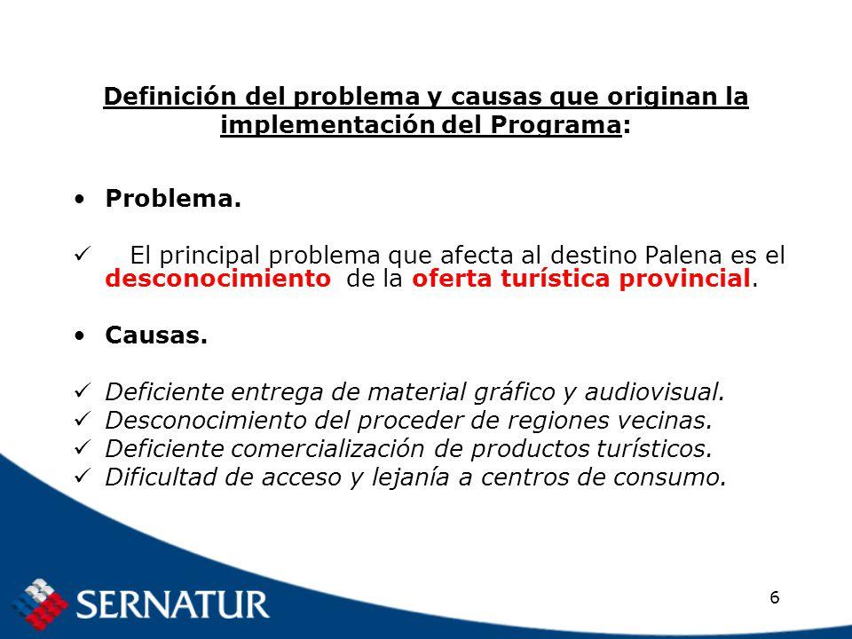 6 Definición del problema y causas que originan la implementación del Programa: Problema.