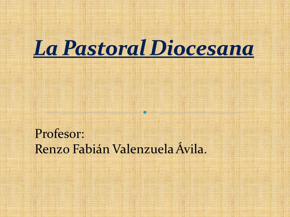 Presidencia del obispo: Servicio integrante de la Iglesia local porque asegura la Iglesia porque asegura la sucesión apostólica.