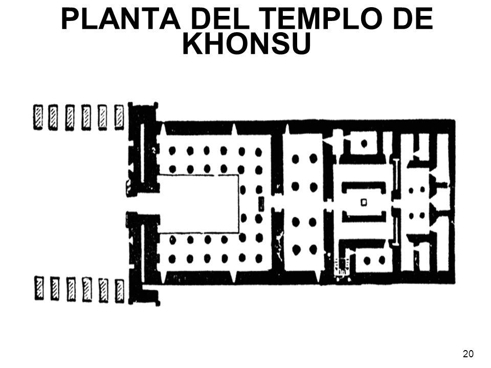 PLANTA DEL TEMPLO DE KHONSU 20