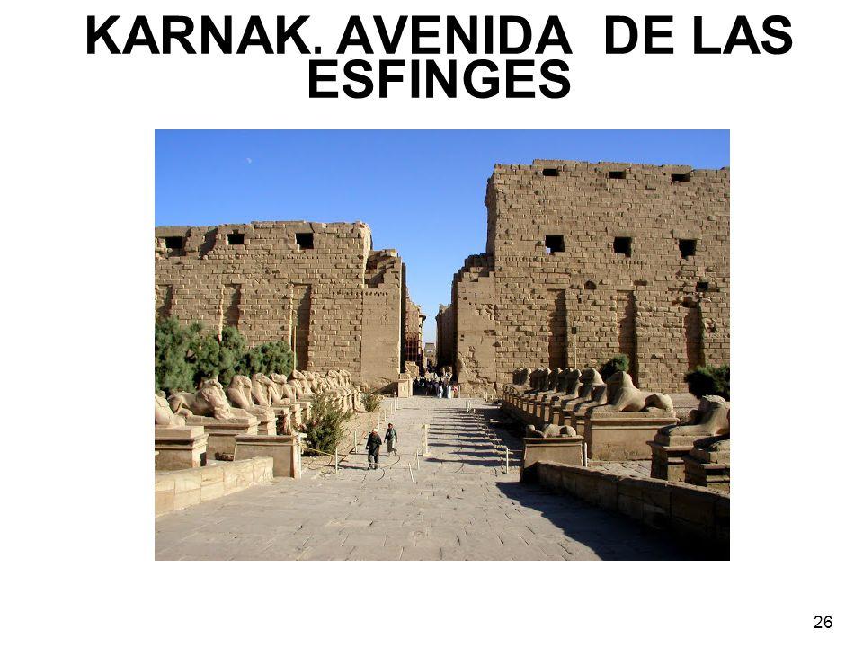 KARNAK. AVENIDA DE LAS ESFINGES 26