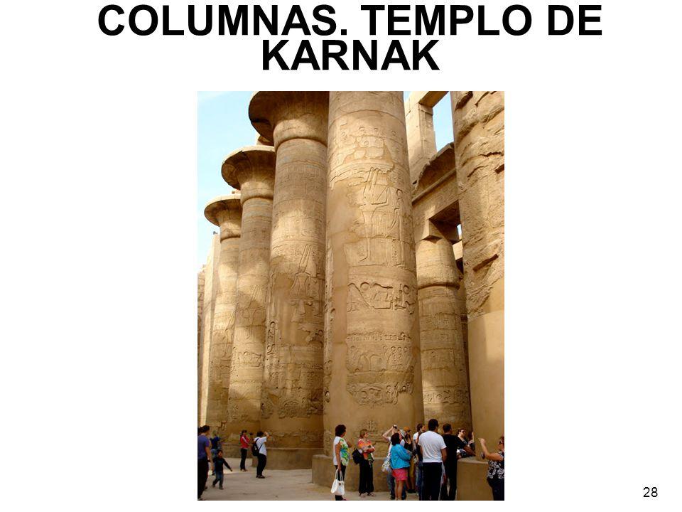 COLUMNAS. TEMPLO DE KARNAK 28