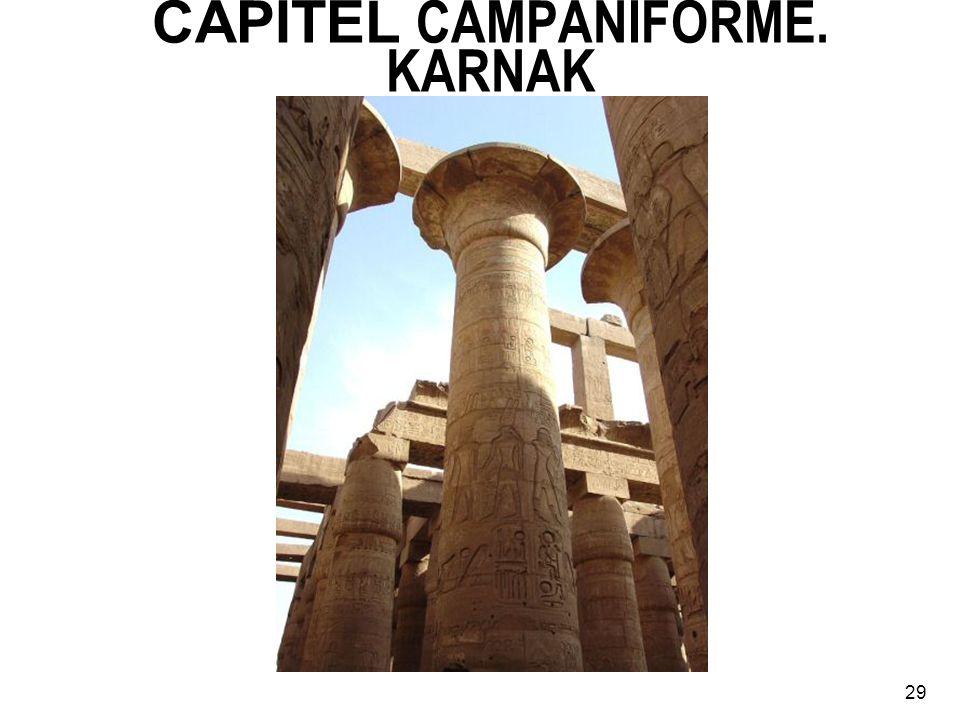CAPITEL CAMPANIFORME. KARNAK 29