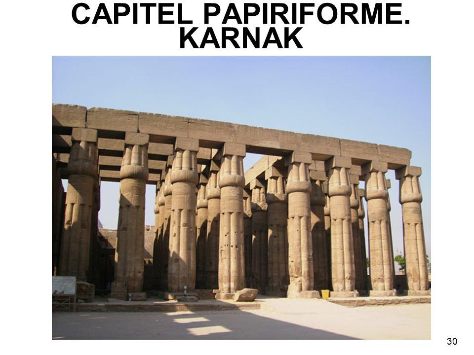 CAPITEL PAPIRIFORME. KARNAK 30