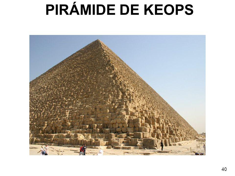 PIRÁMIDE DE KEOPS 40