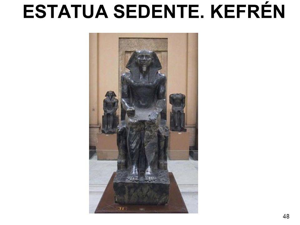 ESTATUA SEDENTE. KEFRÉN 48
