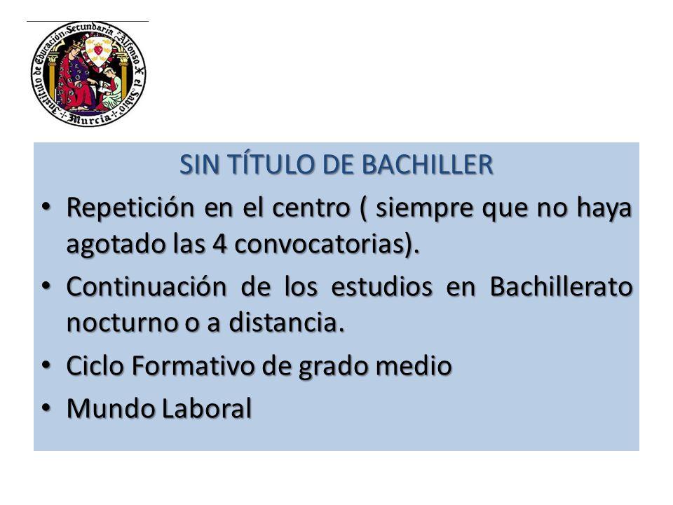 MERCADOLABORALMERCADOLABORAL CICLOS FORMATIVOS GRADO SUPERIOR BACHILLERATO (16-18 AÑOS) CARRERA MILITAR GRADOS Y ESTUDIOS SUPERIORES DE RÉGIMEN ESPECIAL UNIVERSIDAD