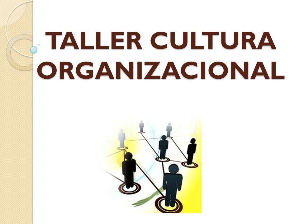 -Revisión de la Gestión Humana en las Organizaciones -Cultura Organizacional -Taller