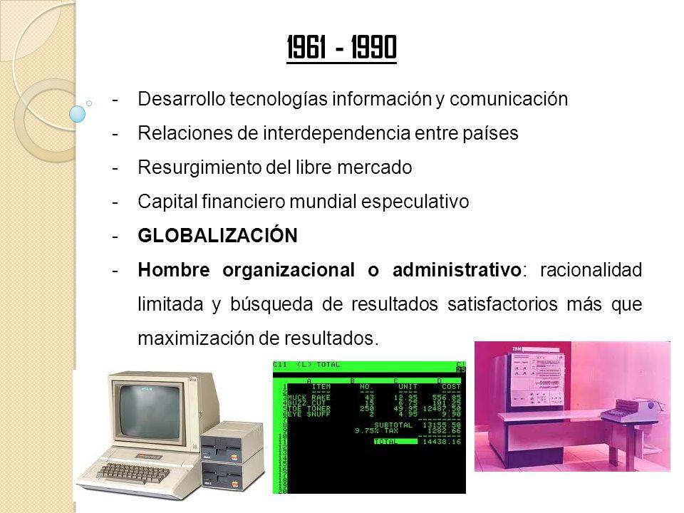 -Desarrollo tecnologías información y comunicación -Relaciones de interdependencia entre países -Resurgimiento del libre mercado -Capital financiero m