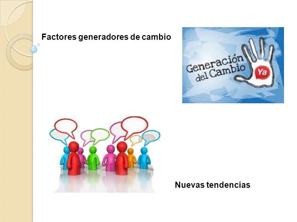 Factores generadores de cambio Nuevas tendencias