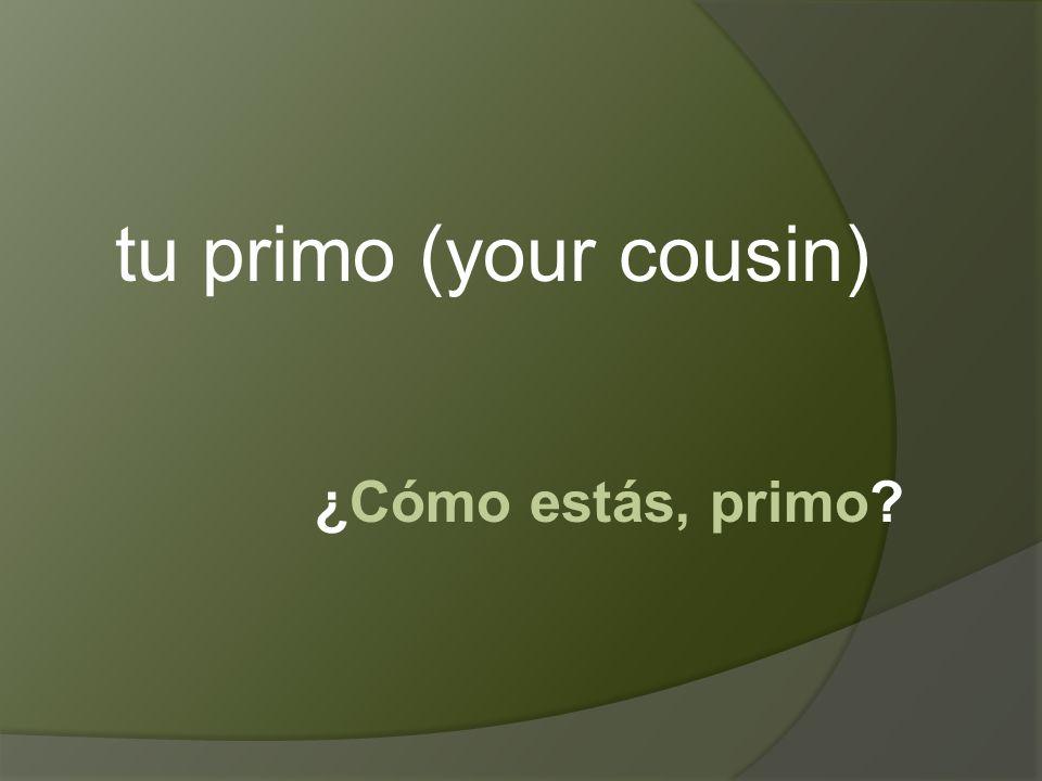 ¿Cómo estás, primo tu primo (your cousin)