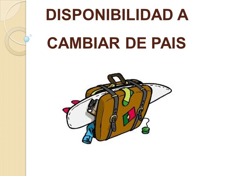 DISPONIBILIDAD A CAMBIAR DE PAIS