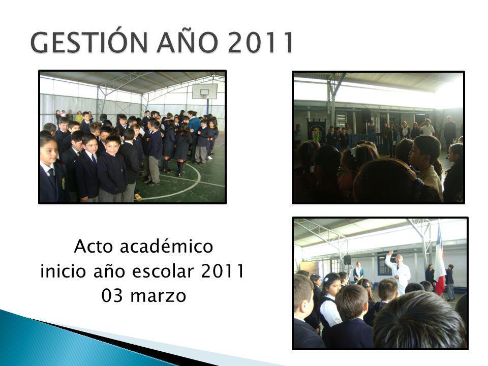 Acto académico inicio año escolar 2011 03 marzo
