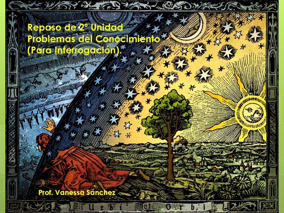 Repaso de 2º Unidad Problemas del Conocimiento (Para Interrogación). Prof. Vanessa Sánchez
