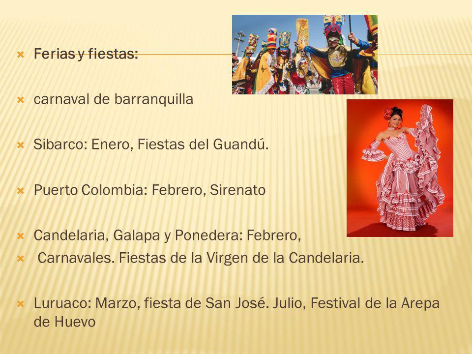Ferias y fiestas: carnaval de barranquilla Sibarco: Enero, Fiestas del Guandú.