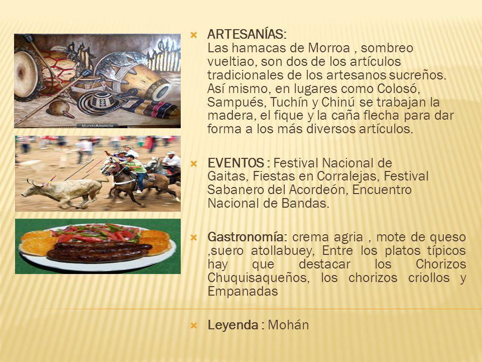 ARTESANÍAS: Las hamacas de Morroa, sombreo vueltiao, son dos de los artículos tradicionales de los artesanos sucreños.