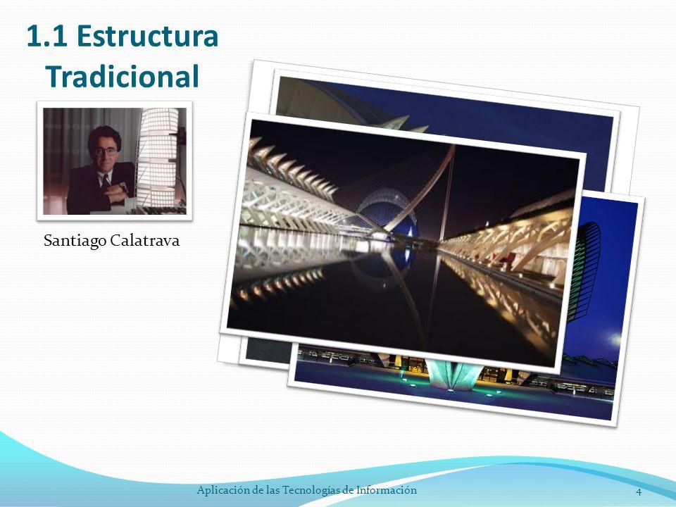1.1 Estructura Tradicional Santiago Calatrava 4Aplicación de las Tecnologías de Información