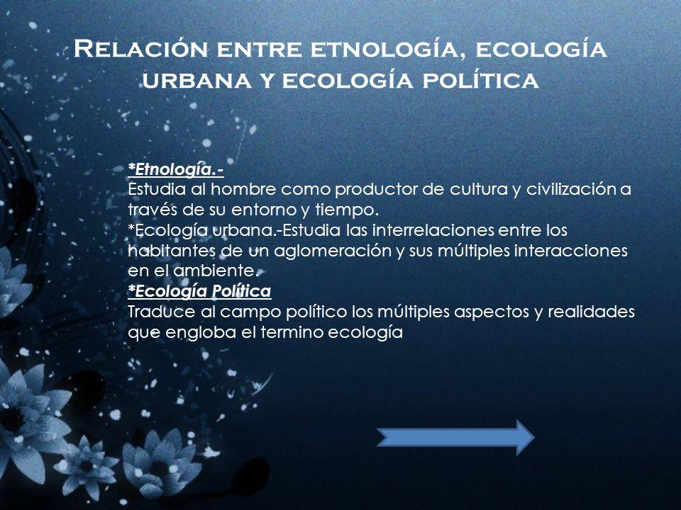 Ecología,multidisciplinaria, interdisciplinaria e integradora. *Ecología Multidisciplinaria.- Su estudio y practica se llevan acabo en relaciones con