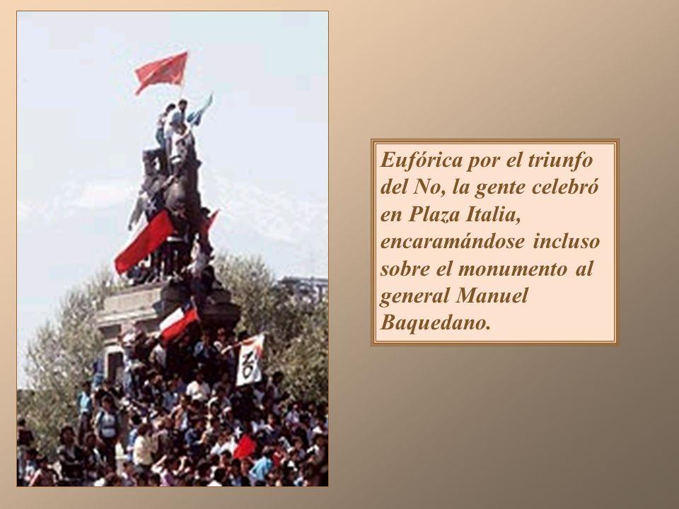 El triunfo del No La opción Sí fue respaldada por los partidos Renovación Nacional, la Unión Demócrata Independiente, Avanzada Nacional, Democracia Ra