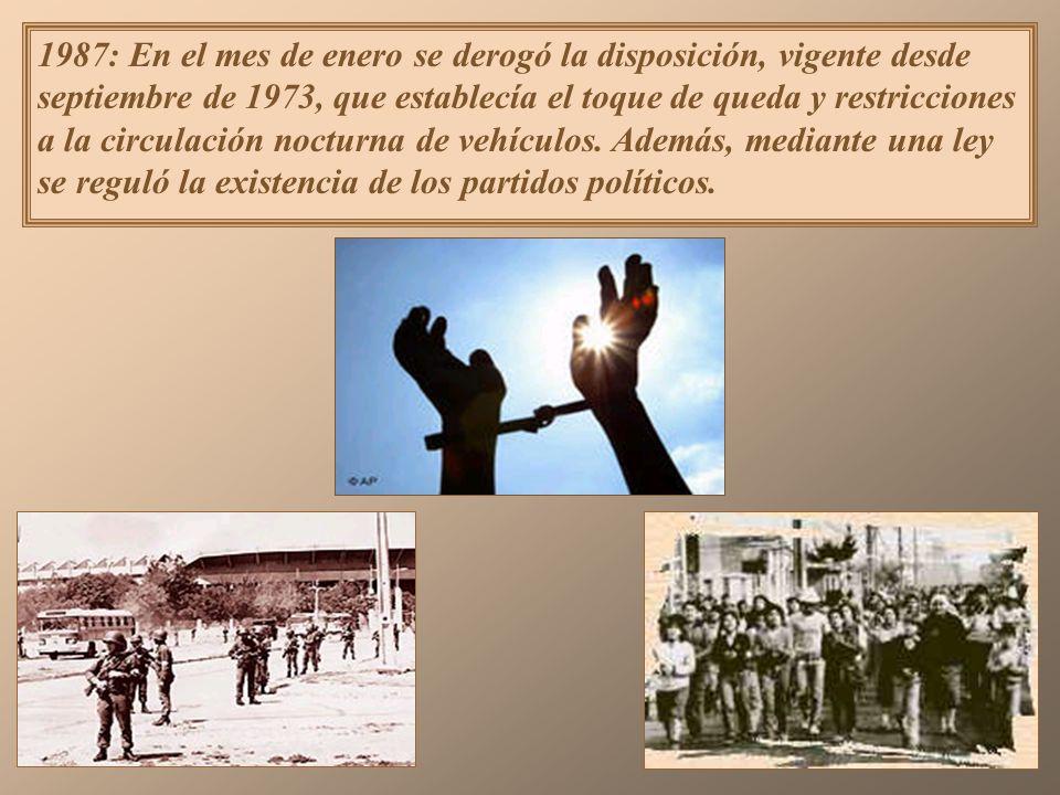 Reformas a la Constitución Como consecuencia de la derrota plebiscitaria, el gobierno militar estuvo dispuesto a realizar algunas reformas a la Consti
