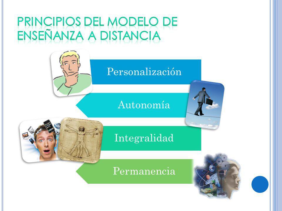 Personalización Autonomía Integralidad Permanencia