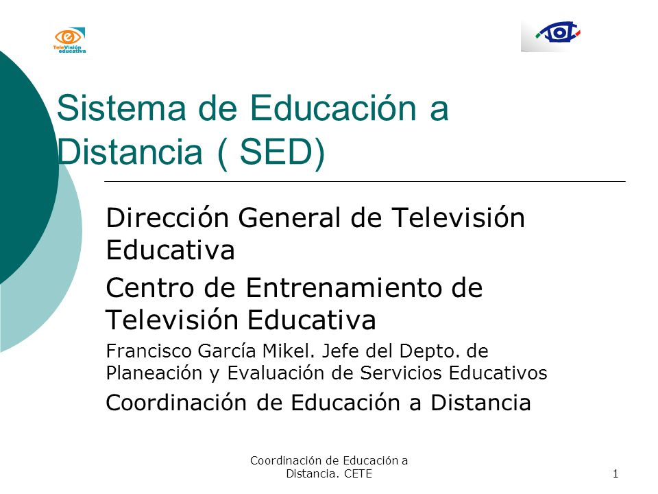 Coordinación de Educación a Distancia.