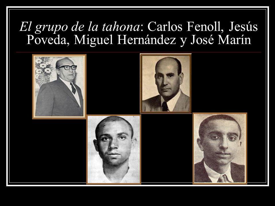 El grupo de la tahona: Carlos Fenoll, Jesús Poveda, Miguel Hernández y José Marín
