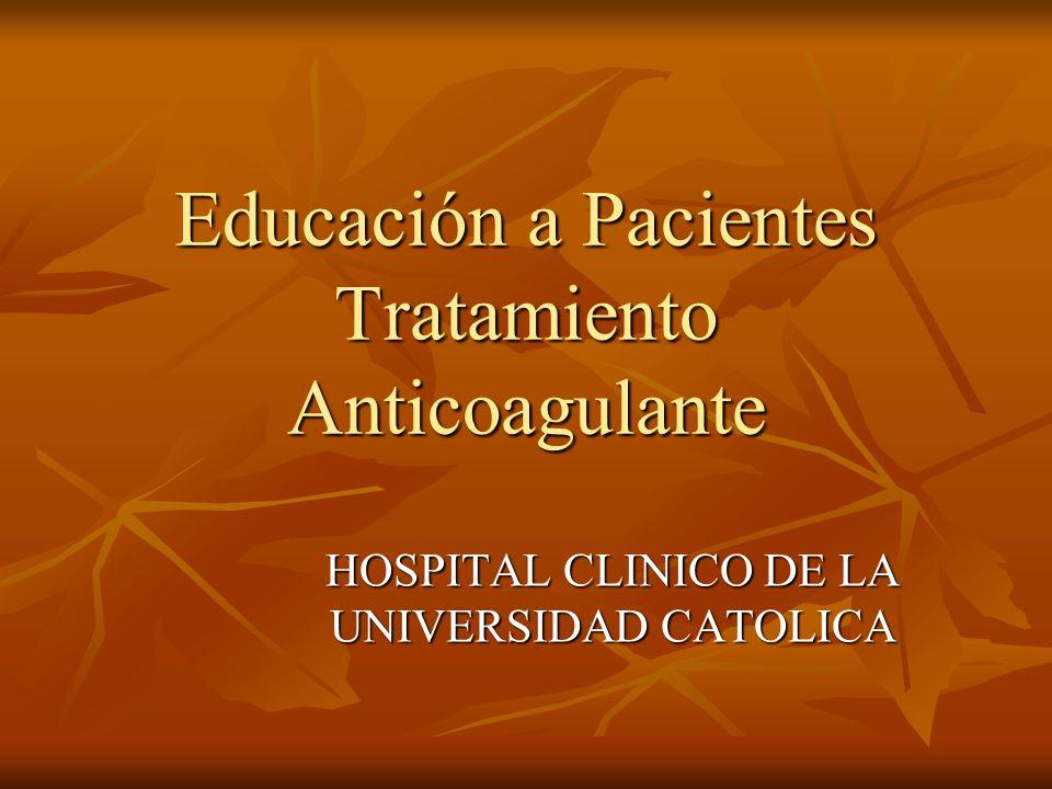 ¿Qué es el TACO (anticoagulación).