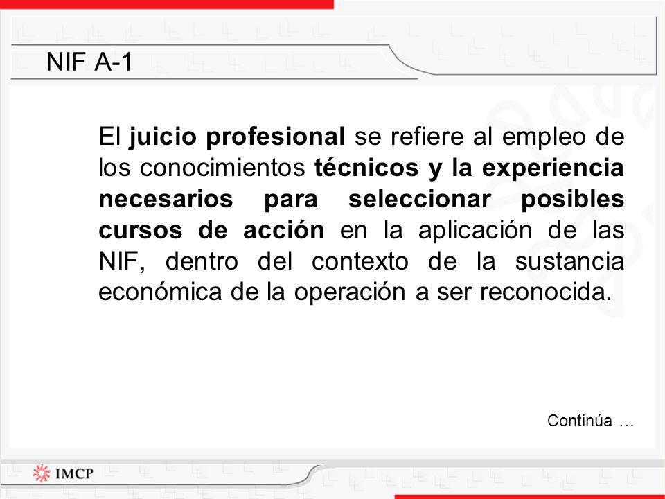 El juicio profesional se refiere al empleo de los conocimientos técnicos y la experiencia necesarios para seleccionar posibles cursos de acción en la
