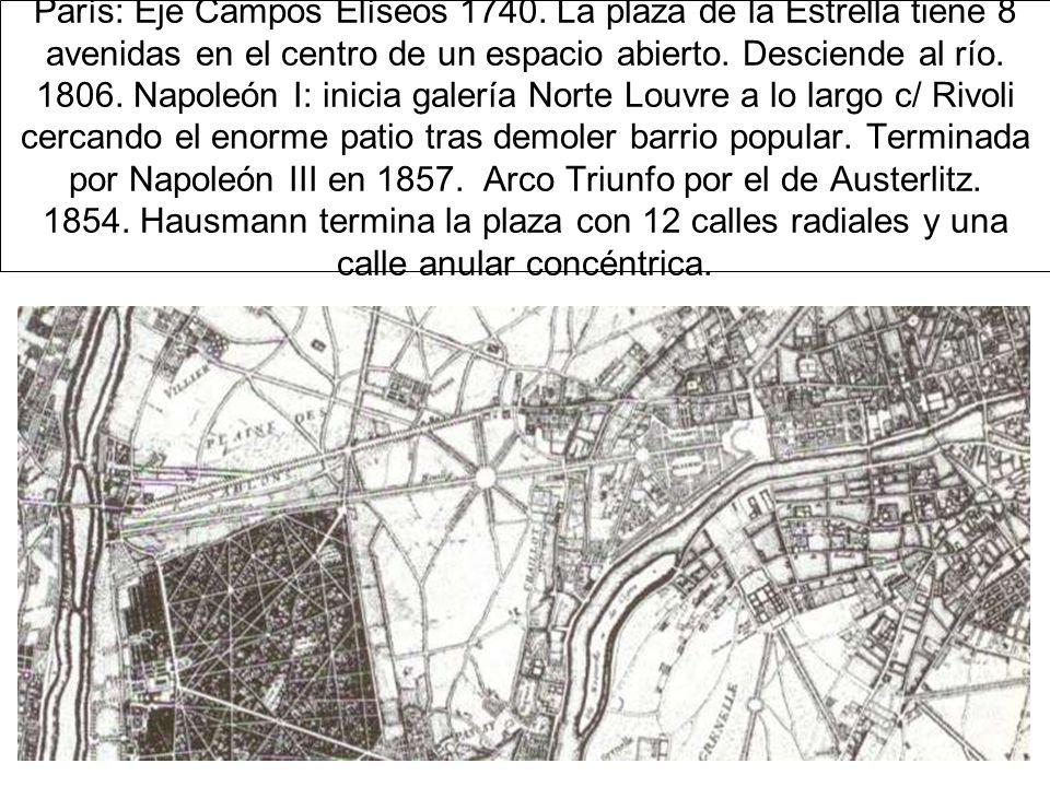 París: Eje Campos Elíseos 1740.
