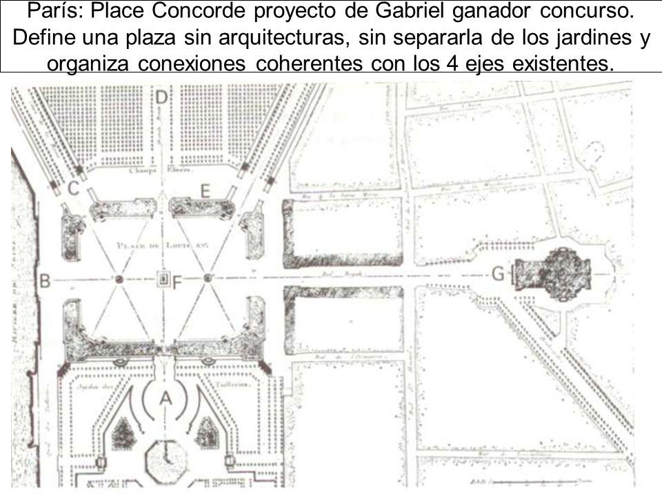 París: Place Concorde proyecto de Gabriel ganador concurso.