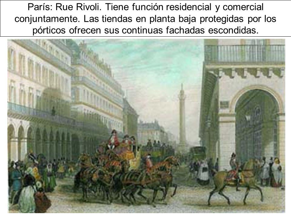 París: Rue Rivoli.Tiene función residencial y comercial conjuntamente.