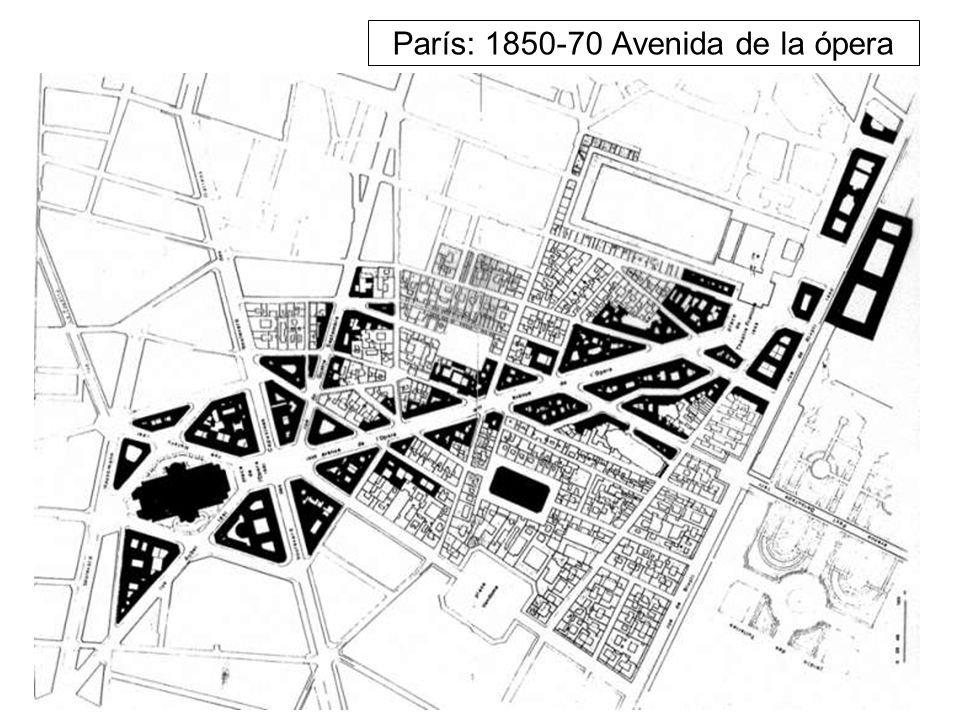 París: 1850-70 Avenida de la ópera