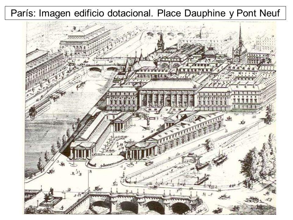 París: Imagen edificio dotacional. Place Dauphine y Pont Neuf