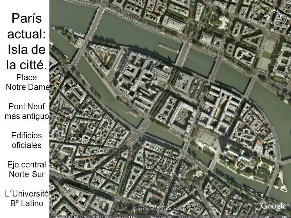 París actual: Isla de la citté.