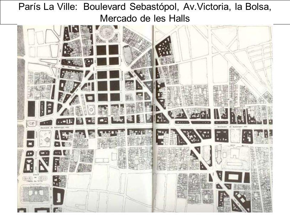 París La Ville: Boulevard Sebastópol, Av.Victoria, la Bolsa, Mercado de les Halls