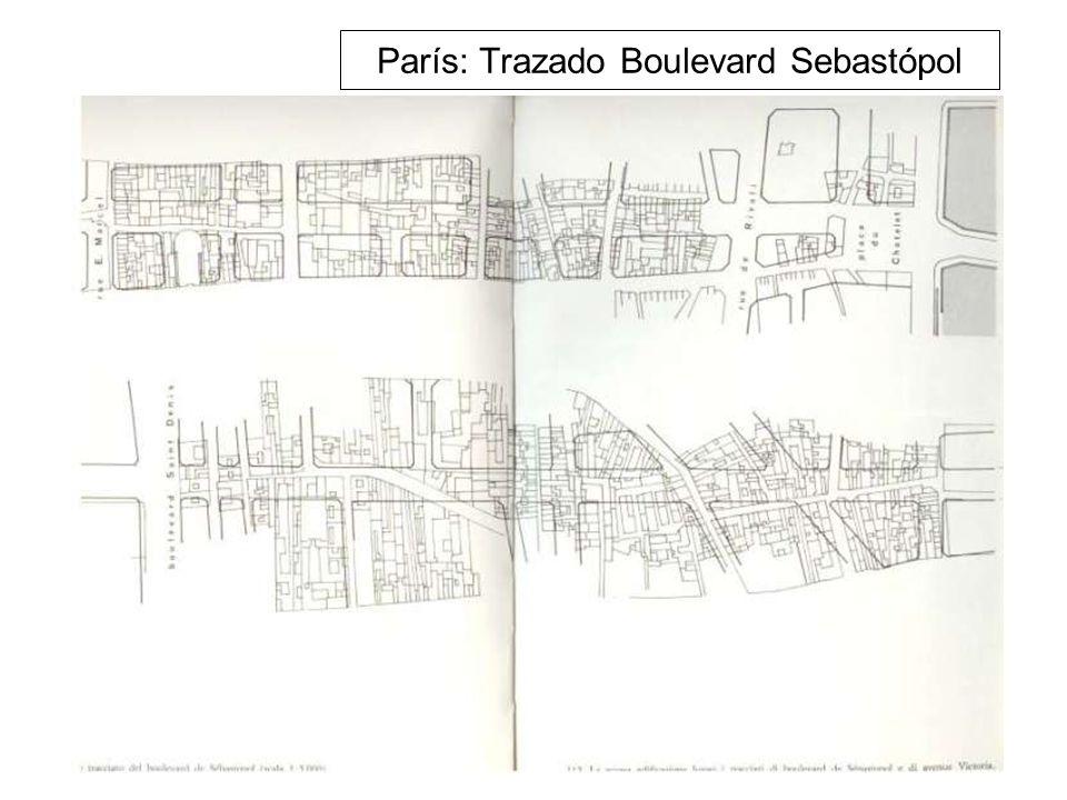 París: Trazado Boulevard Sebastópol