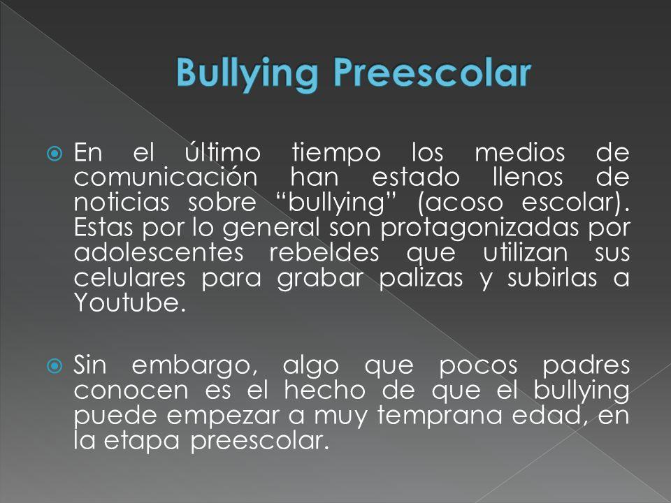 En el último tiempo los medios de comunicación han estado llenos de noticias sobre bullying (acoso escolar). Estas por lo general son protagonizadas p