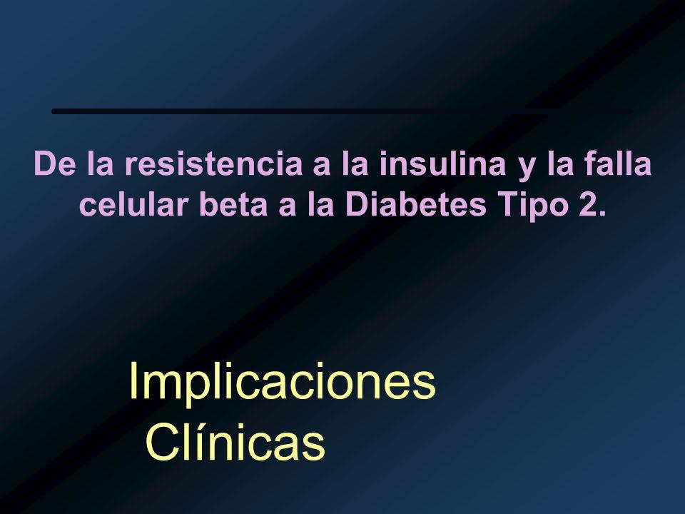 De la resistencia a la insulina y la falla celular beta a la Diabetes Tipo 2. Implicaciones Clínicas